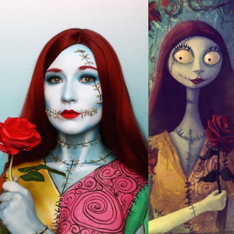Sally From The Nightmare Before Christmas Body Art 9gag