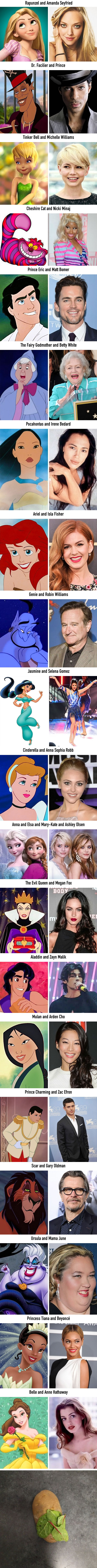 20 celebrities who look exactly like Disney characters