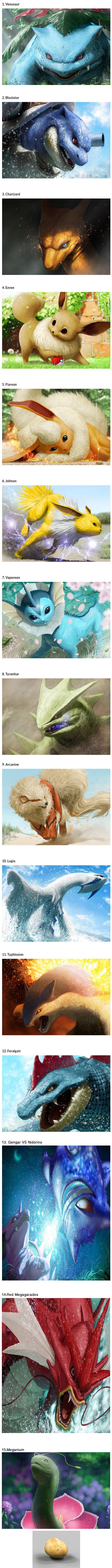 Japanese artist creates breathtaking realistic Pokemon paintings arts  Pokemon Japan Anime