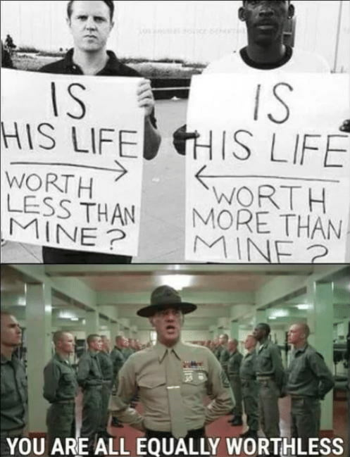 Equally worthless