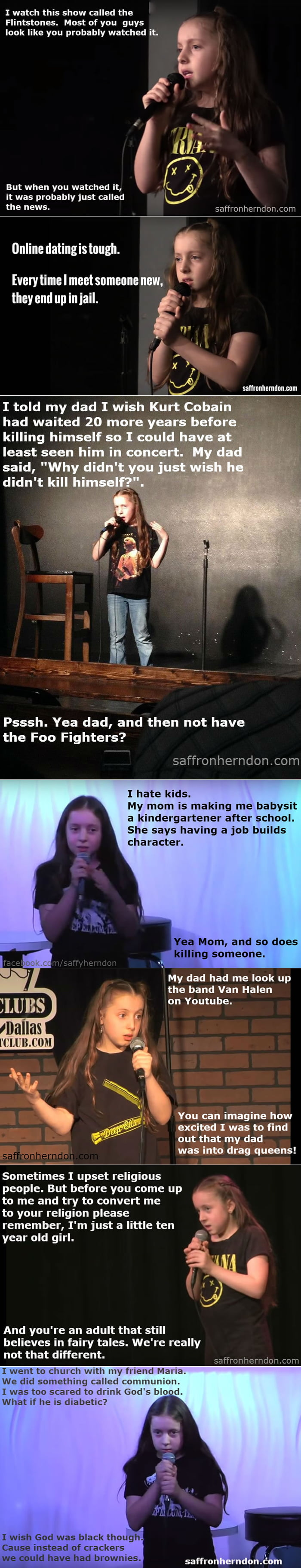 10-year-old comedian girl