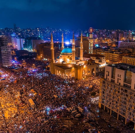 Revolution in Lebanon because of the corrupted government. More than 2 million protesters are revolting in Beirut alone. The world needs to see this. 1