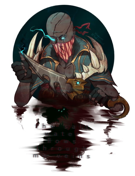 Pyke Fanart Based Off One Of His Voice Lines 9gag