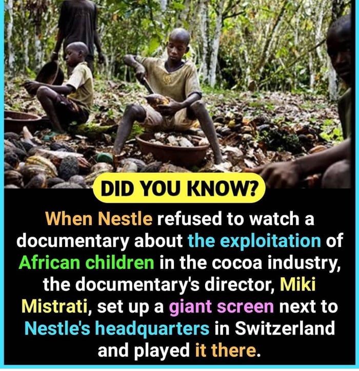 Ensuring that Nestlé know the negative impact their companies have on thousands of African children