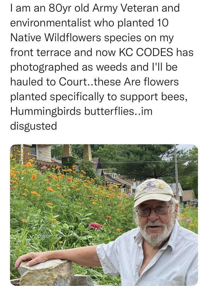 Kansas City, Missouri decides this man's environmental friendly garden is worth taking to court