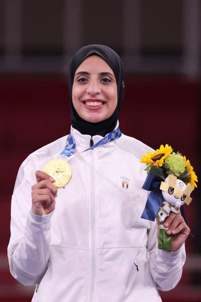 Feryal Abdelaziz Wins Historic GOLD for Egypt at Tokyo 2020 Olympics. First women gold for Egypt.