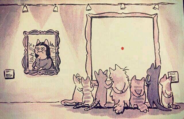 Meow-dern art