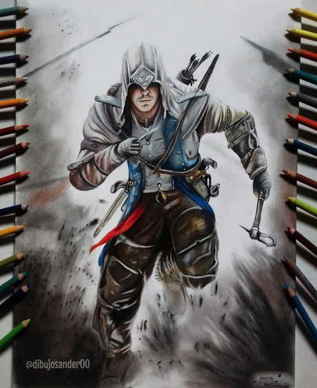 The Assassin S Creed Iii Awesome Drawing 9gag