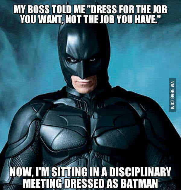 We all want to be batman