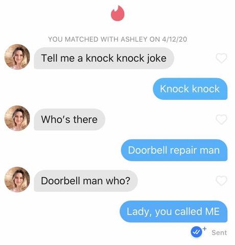 Knock jokes tinder knock Knock knock