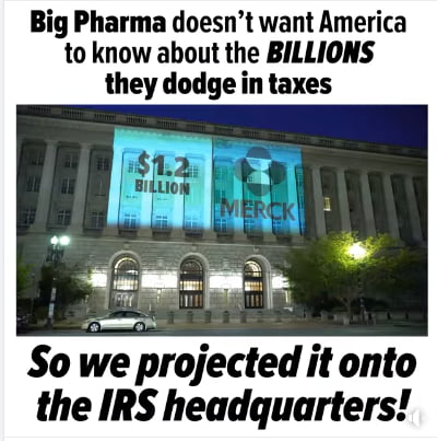 Big pharma just got owned on the IRS building