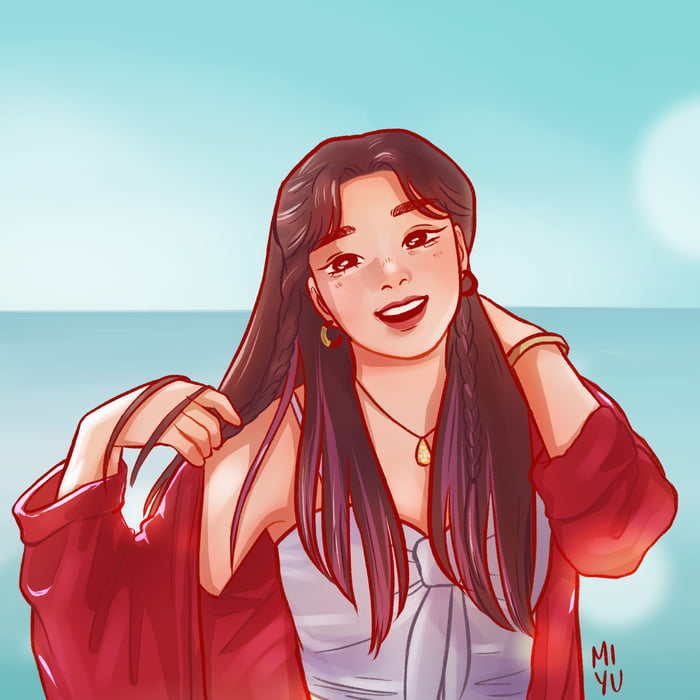 Photo : Jeongyeon fanart because I've always wanted to buy their merch but couldn't afford it. Baby once here!