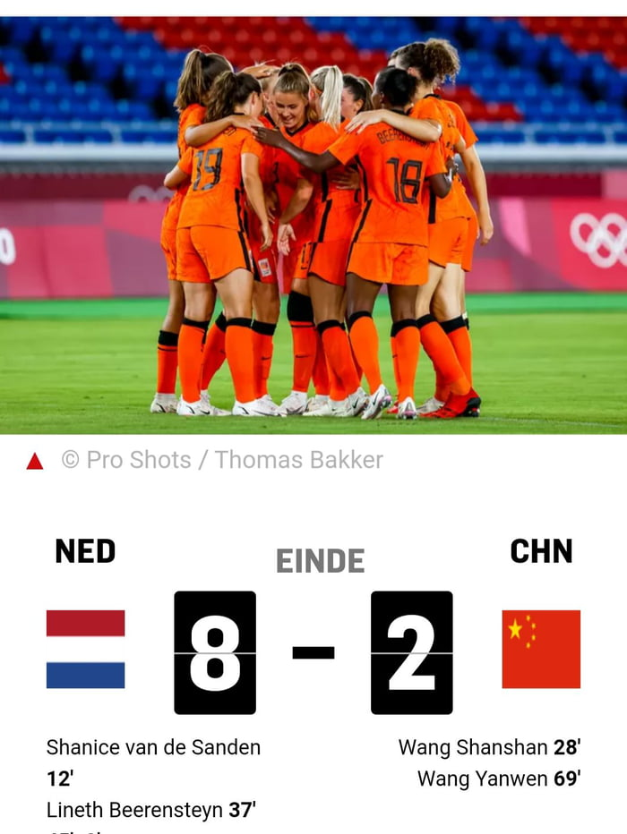 Dutch soccer team beat West Taiwan 8 - 2 on the Olympics. I wonder what the CCP state media will say about the match.