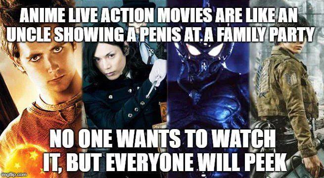 Live Action Anime should not be here