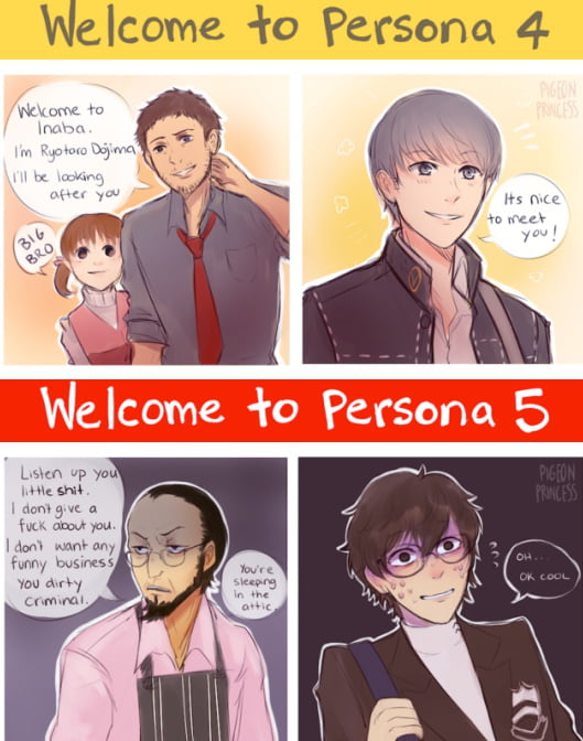 The main difference between P4 and P5. Although Sojiri is best dad.