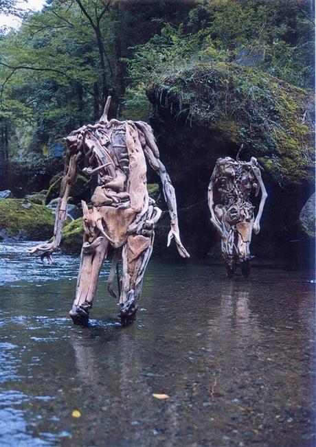 Driftwood statues 1