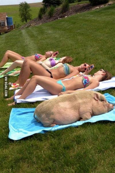 Sister Sunbathing