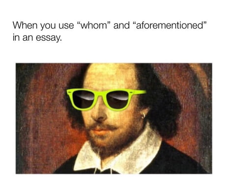 I guess that makes me an English Professor.