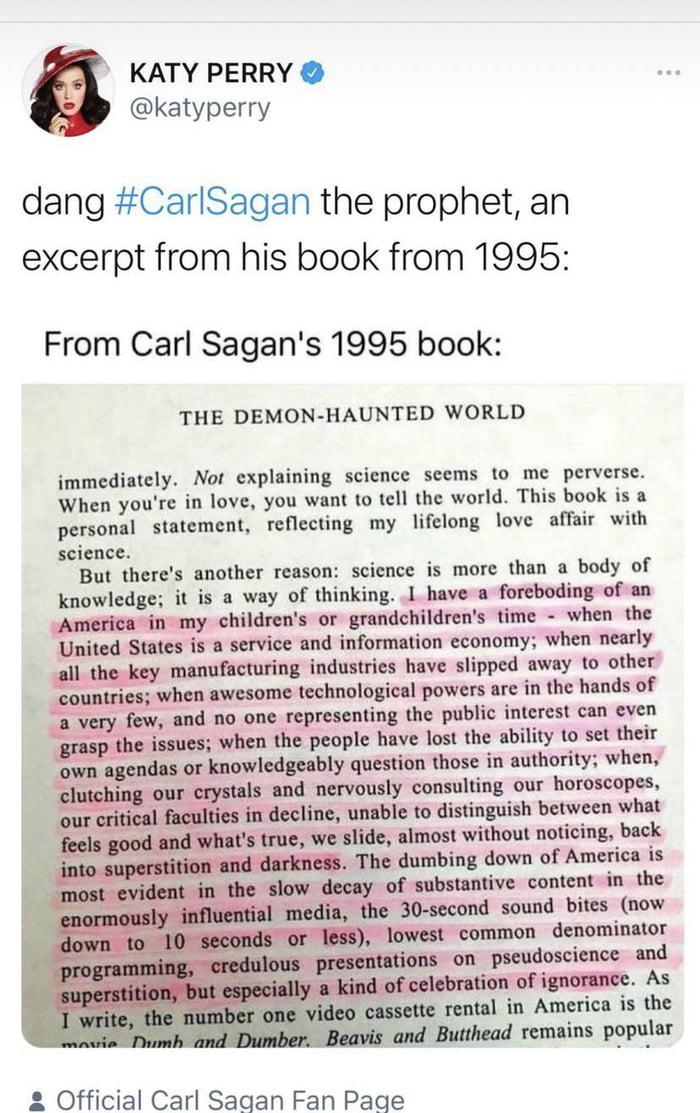 Carl Sagan the prophet