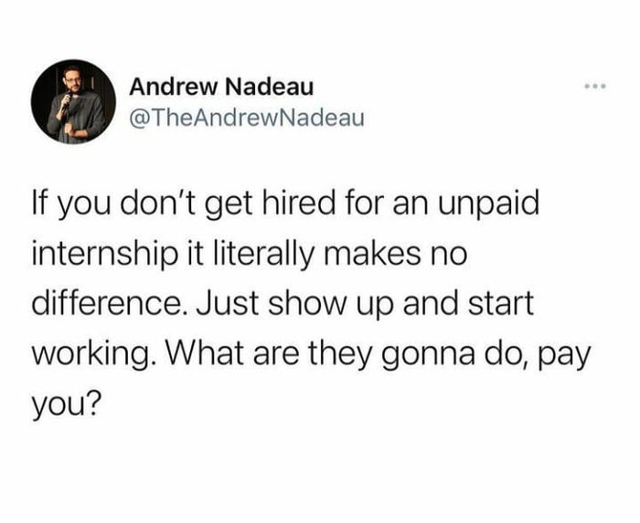 These bloody interns acting like they're paid