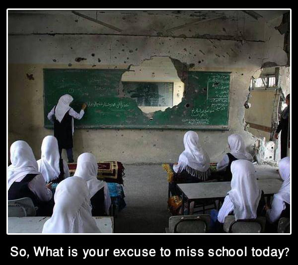 So what is your excuse to miss school today?