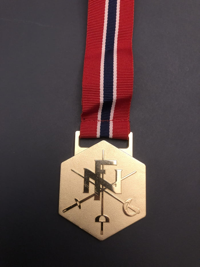 Just won my first medal at a fencing championship