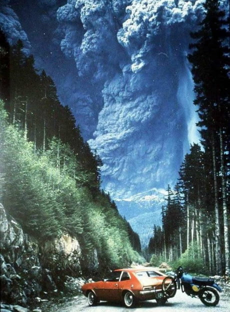 On May 18, 1980, someone was able to capture this incredible shot of Mount St. Helens erupting in Washington, USA