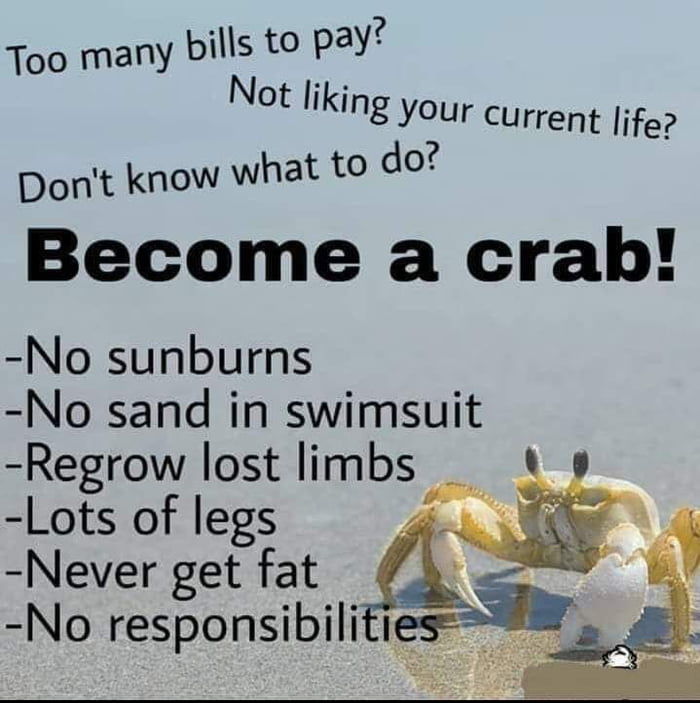 Become a crab