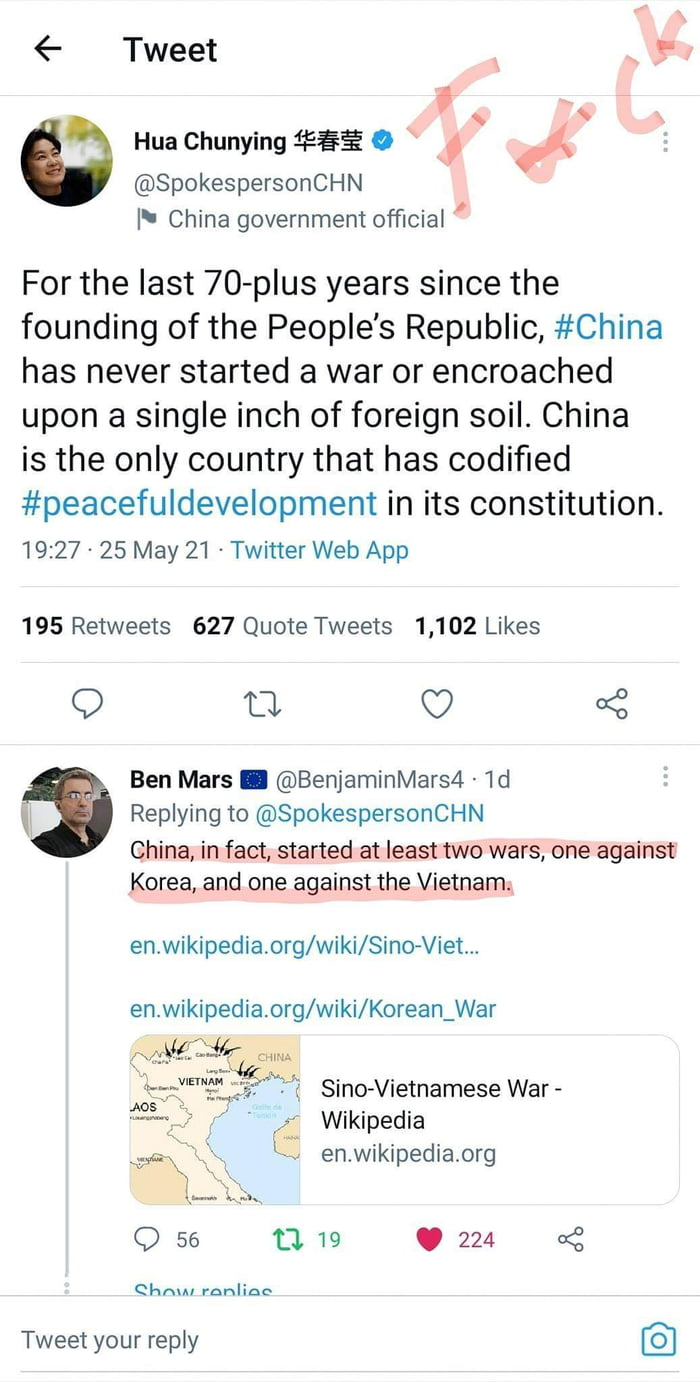 Why do people justify China a lot they're a POS and anyone who enables them.