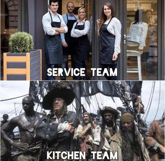 You know it if you've worked at a restaurant