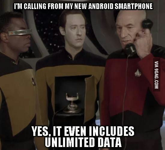 I knew the enterprise was piloted by an Android OS.