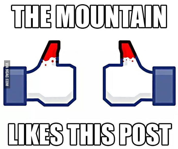 The mountain likes this post