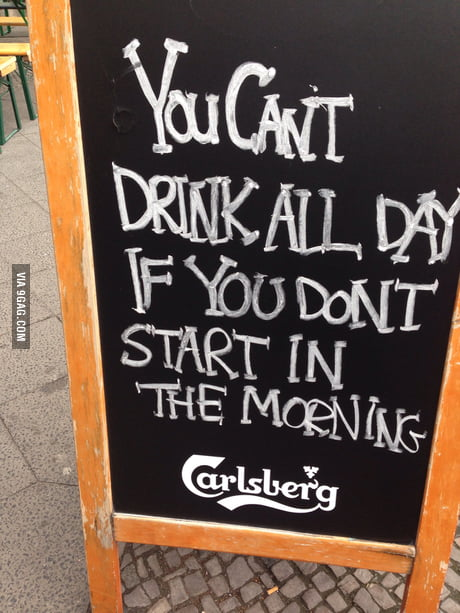 I raise you this pub board, in Germany