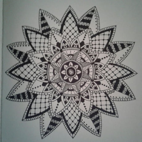 One of my addictions. drawing. And I love drawing mandala's! Just wanted to share
