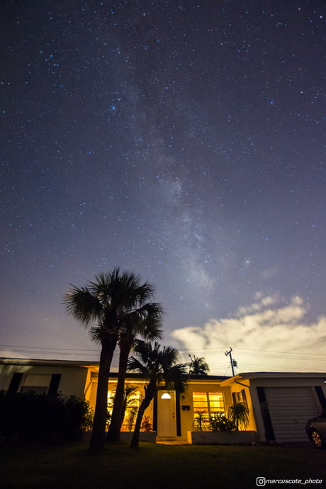I photographed the Milky Way over my house while my city was blacked-out from Hurricane Irma.
