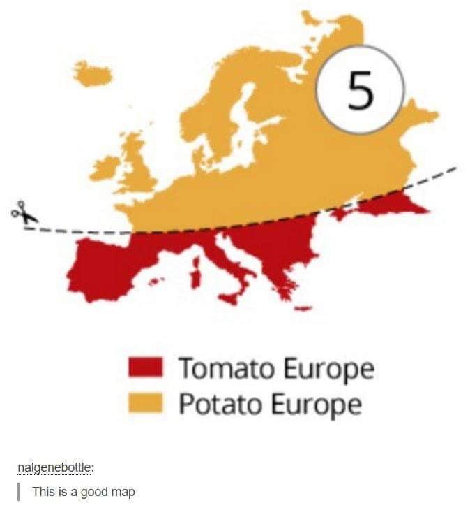 Potato vs Tomato Europe