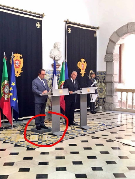 So François Hollande visits Portugal...