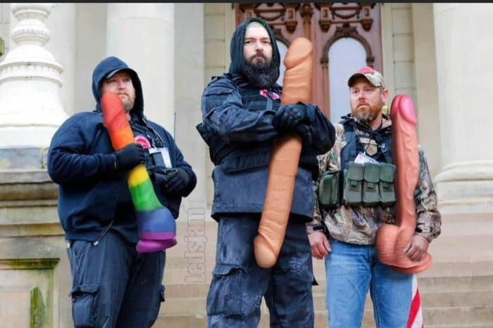 Whoever is photoshopping dildos over the guns in photos of reopen protesters is doing God's work.