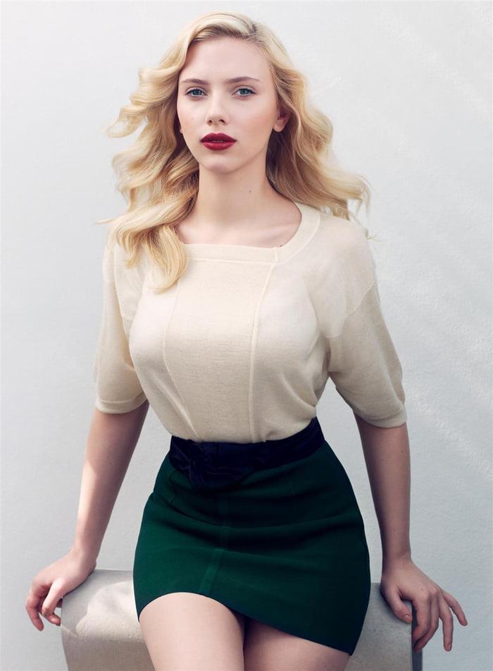 Scarlett Johansson at 22 for Vogue Magazine, 2007.