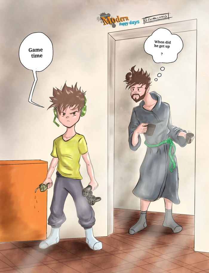 I drew my sons and I every day routine