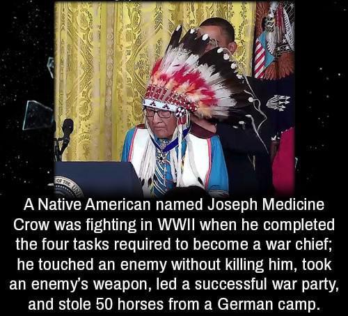 What a legend, Joseph Medicine Crow.