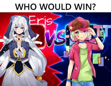 In Any Game Between The Goddess Of Fortune Eris From Konosuba And The God Of Games Tet Teto From No Game No Life Who Would Win Let Me Hear Your Opinion