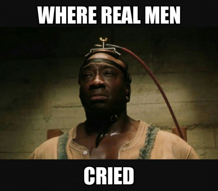 Just watched The Green Mile for the first time, the feels hit me like a train 10/10 would watch again