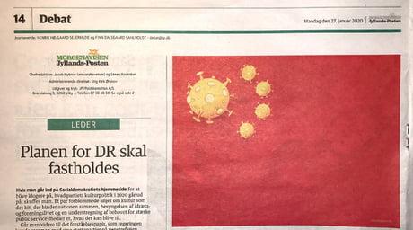 中国政府とのトラブルにデンマークの新聞。