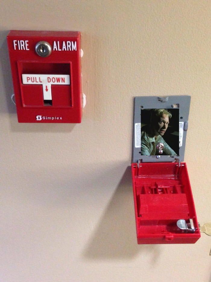 The inside of a fire alarm is just a