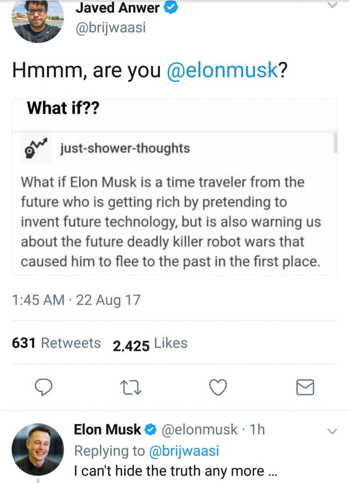 Elon Musk has finally revealed ..!!