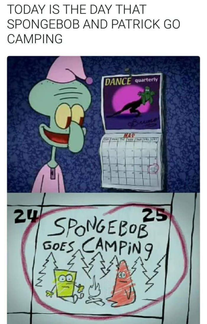 Spongebob go Camping