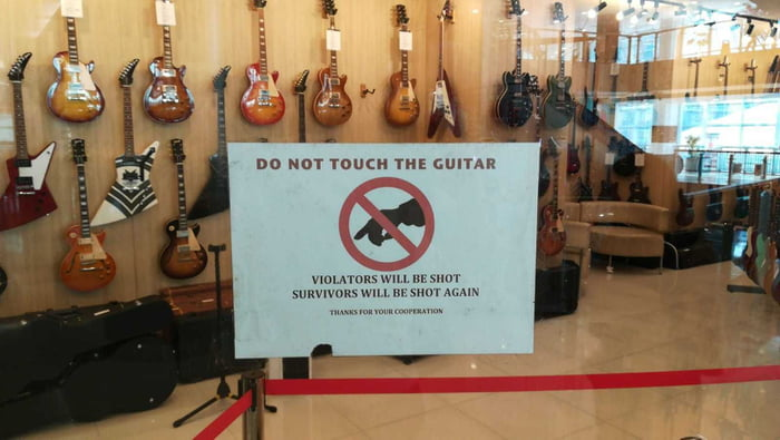 Don't touch the guitar