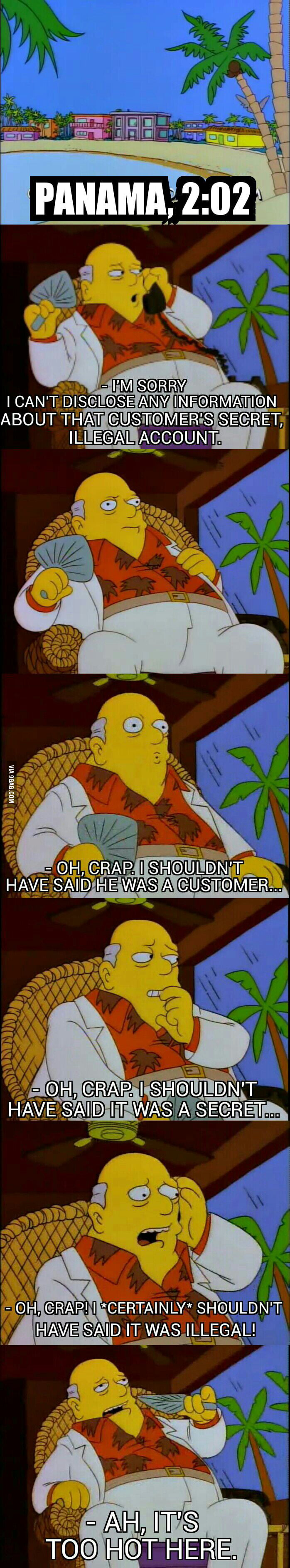 Panama papers. Simpsons one step ahead