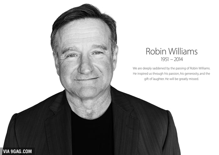 Apple commemorates Robin Williams in homepage tribute! They only did that for Rosa Parks and Nelson Mandela before.